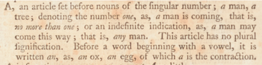 Image of dictionary text