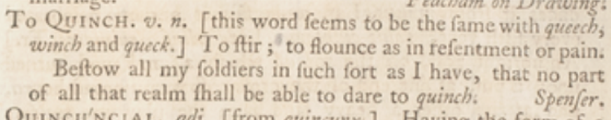 Example of headwords in dictionary entry