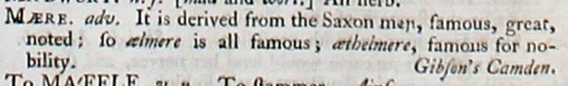 Image is an example of etymology in the dictionary entry